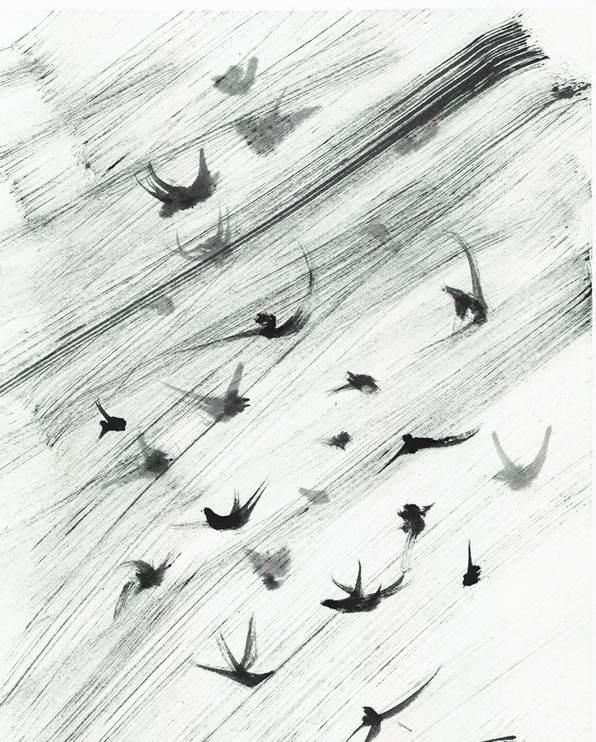 Лястовици в дъжда оригинал постер